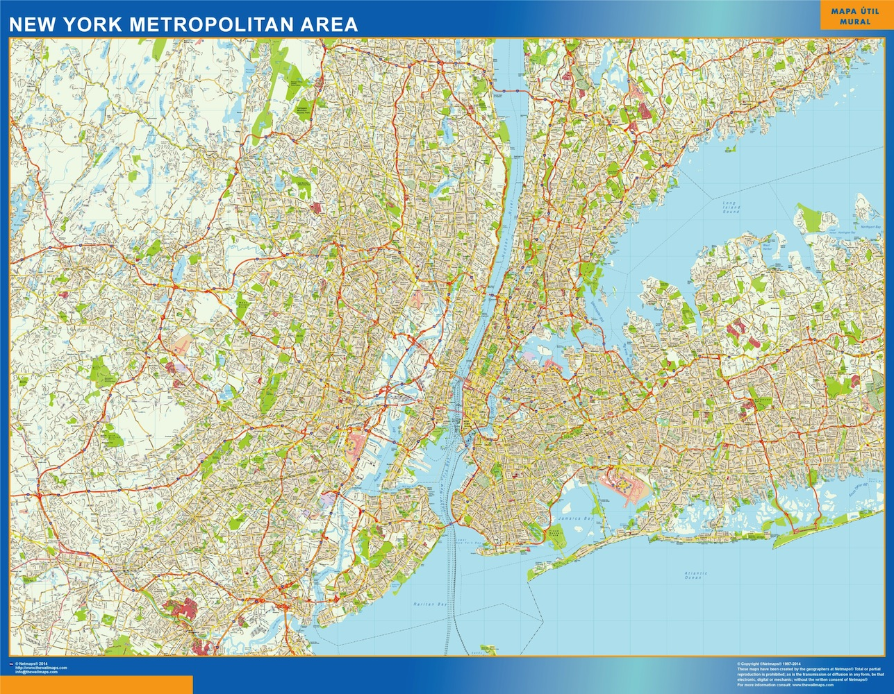new york metropolitan street map