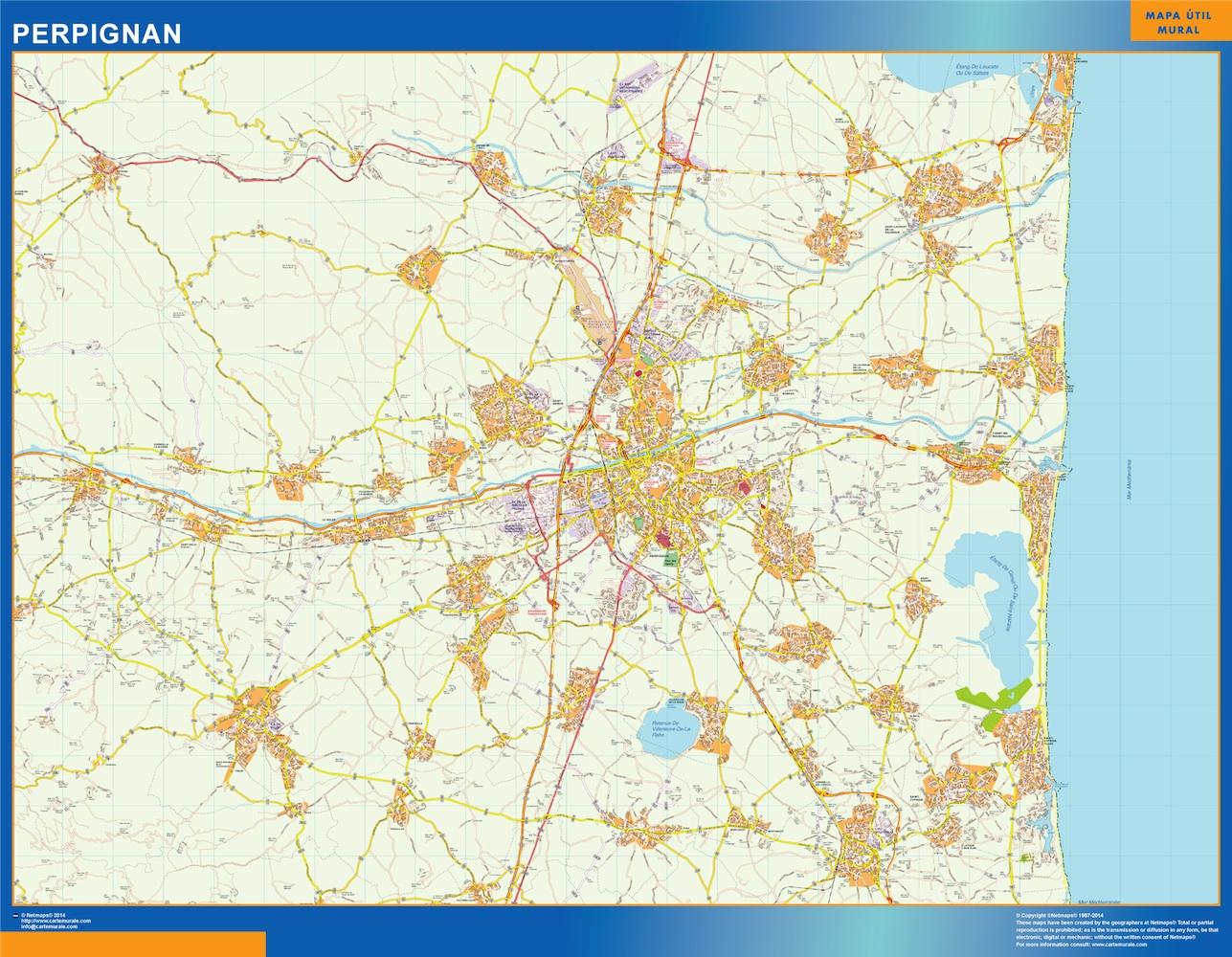 perpignan street map