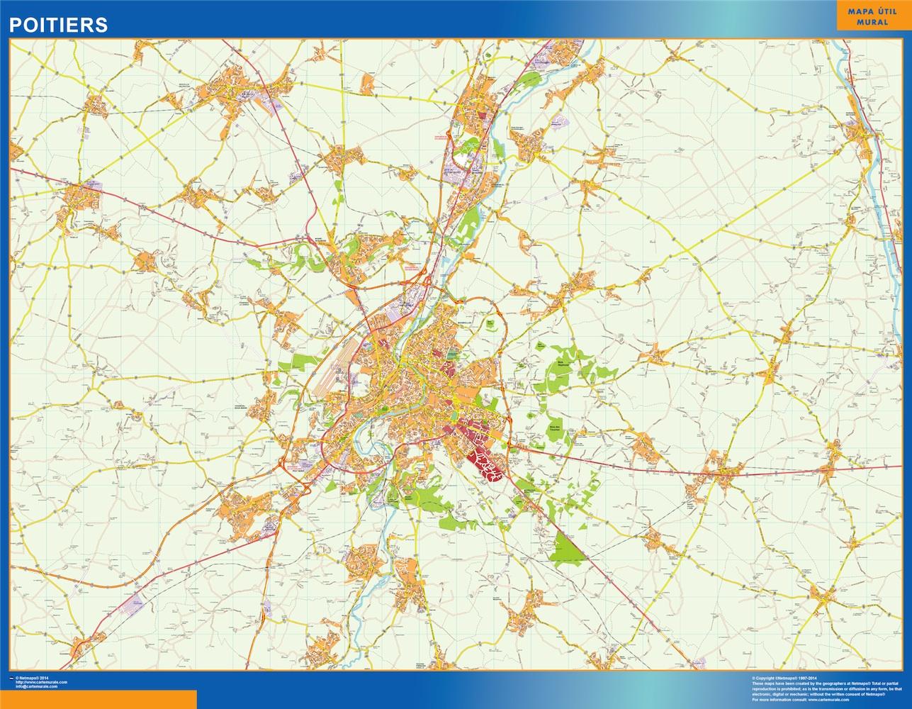 poitiers street map