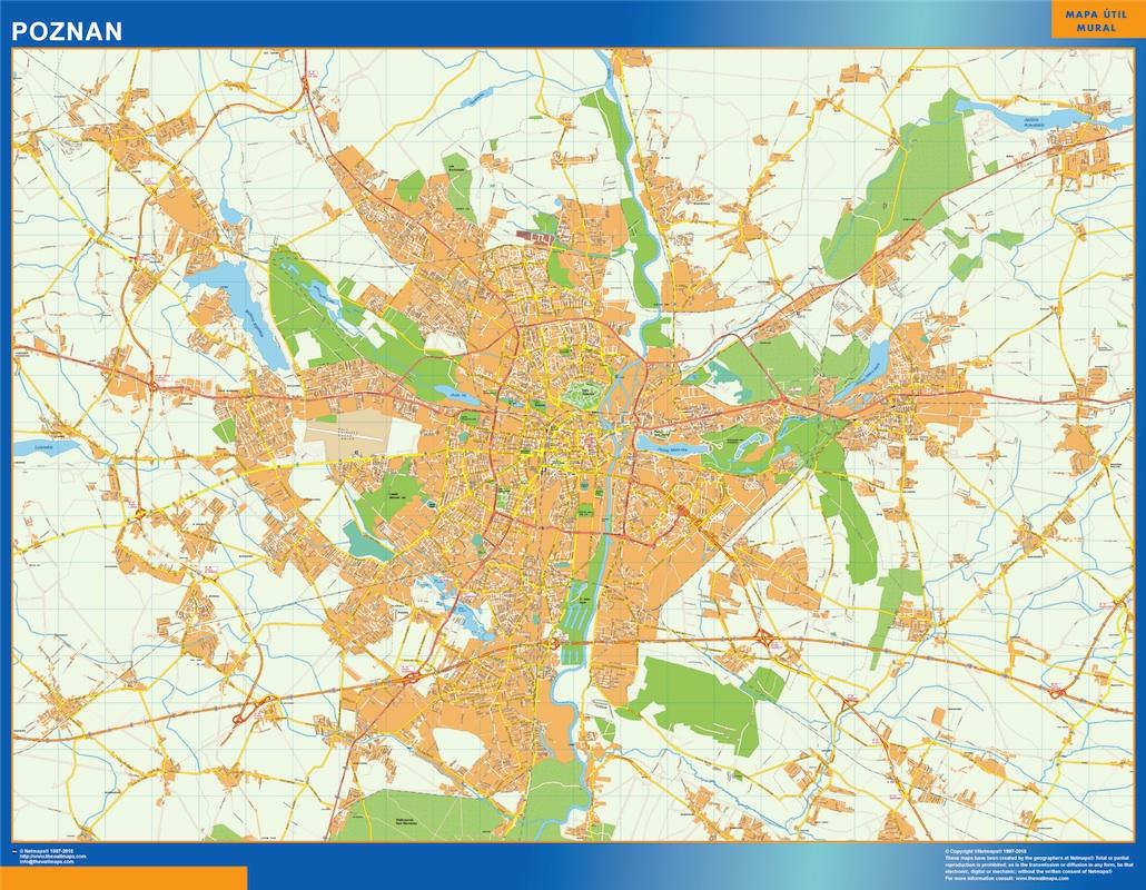 poznan street map