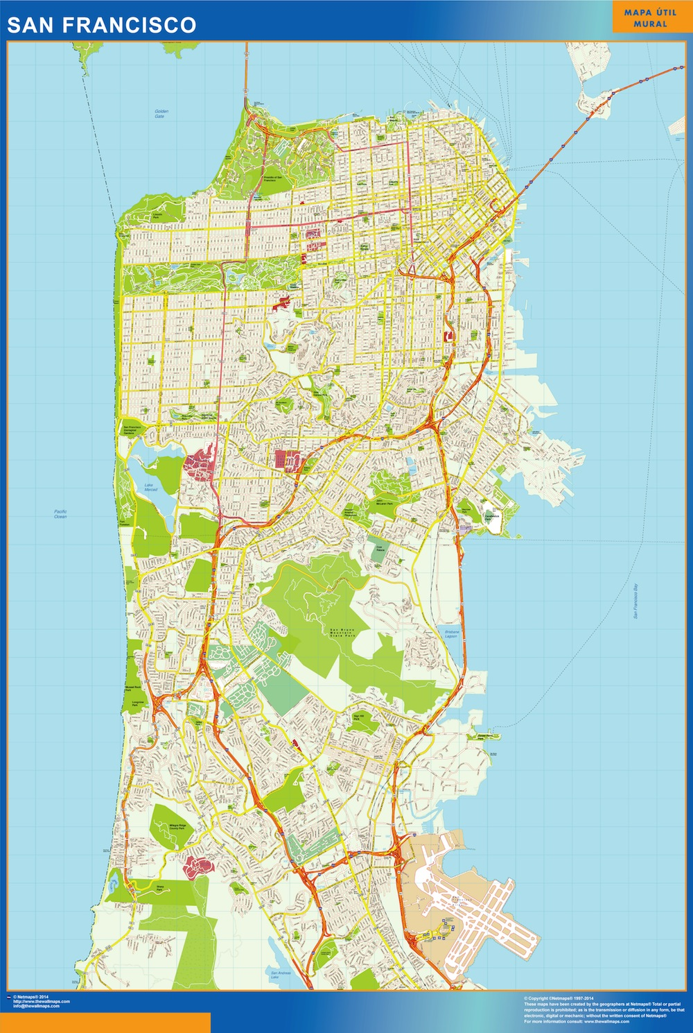 San Francisco Map Detailed - San francisco map vector free download