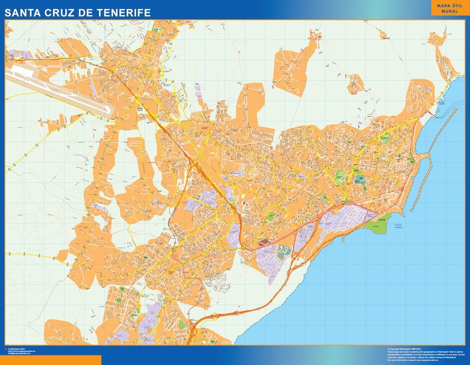 santa cruz tenerife street map