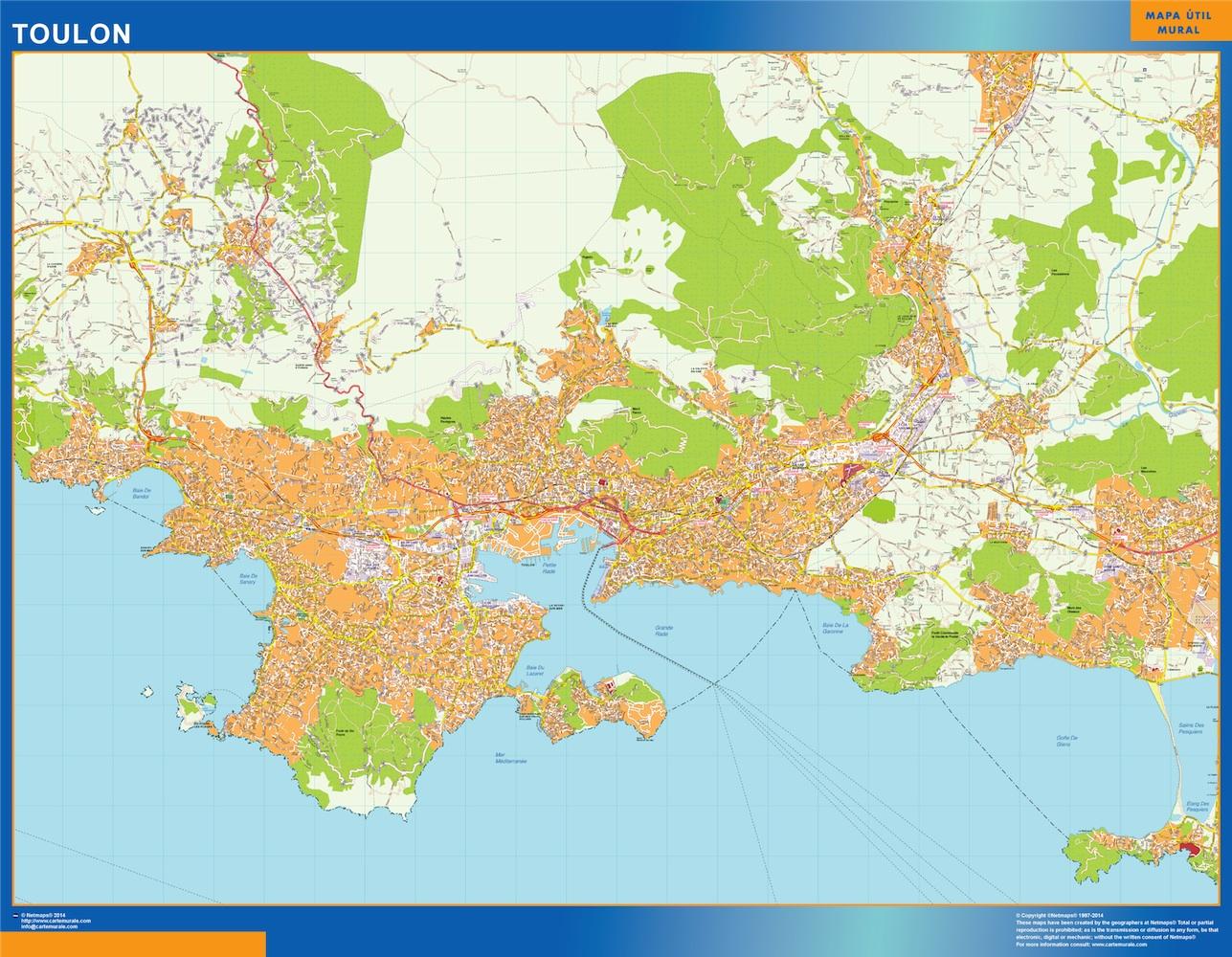 toulon street map