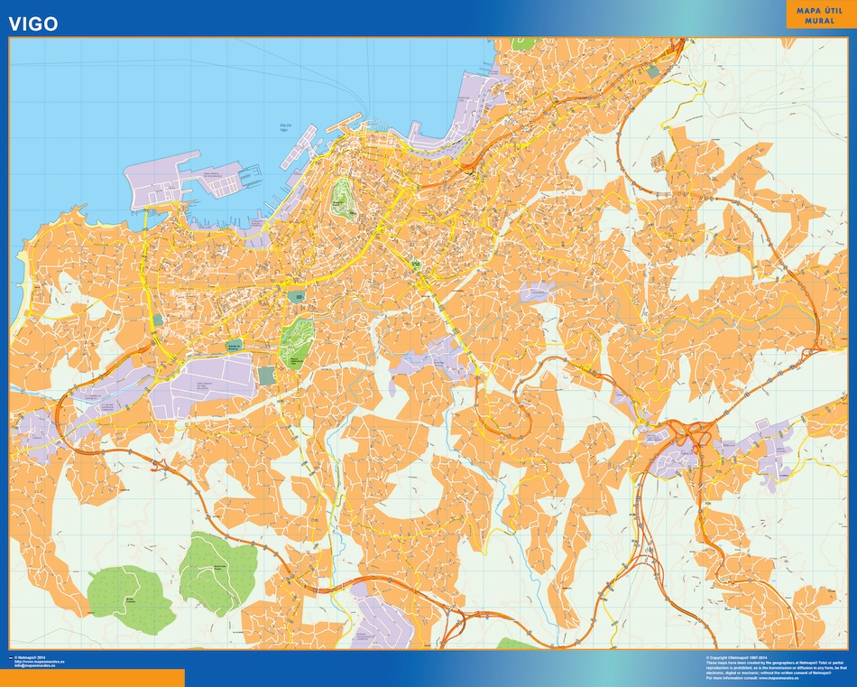 Map Of Spain Vigo.Maps Of Spain Wall Maps Of The World Part 6