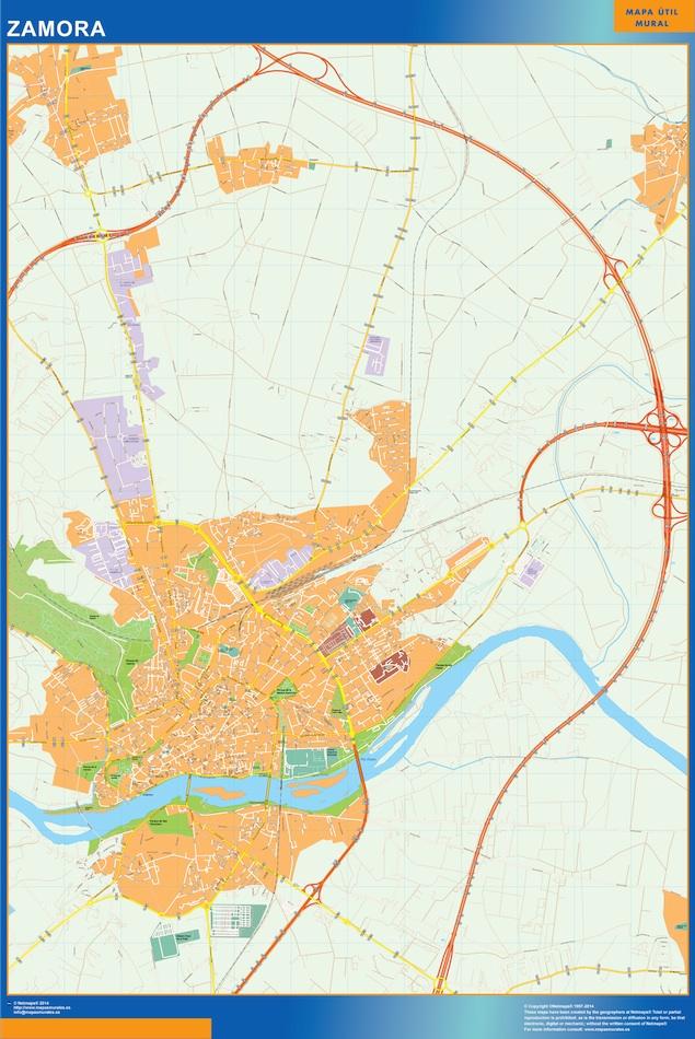 zamora street map