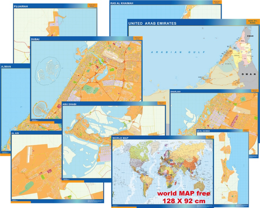 Maps emirates