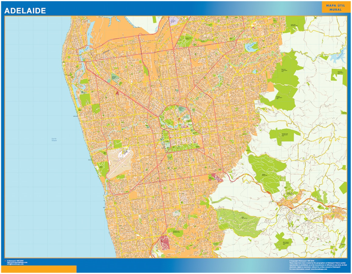 Our adelaide map wall maps mapmakers offers poster laminated or adelaide map gumiabroncs Images