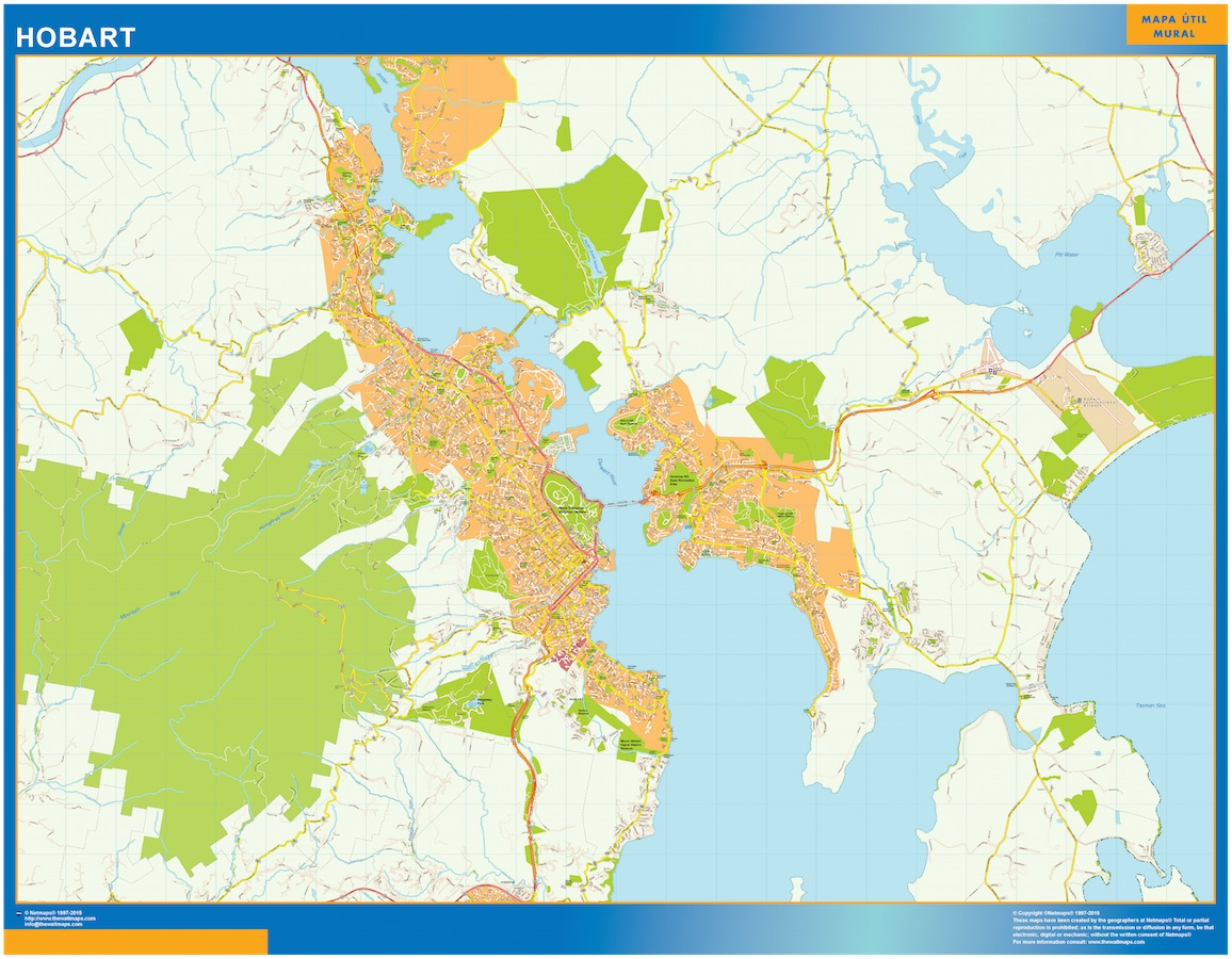 Hobart map