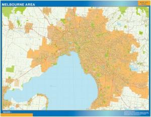 Melbourne Area map