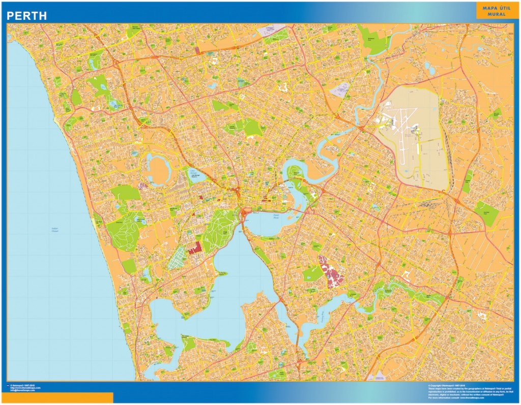 Perth wall map