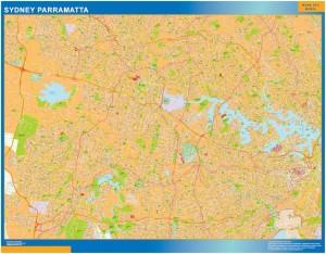 Sydney Parramatta map