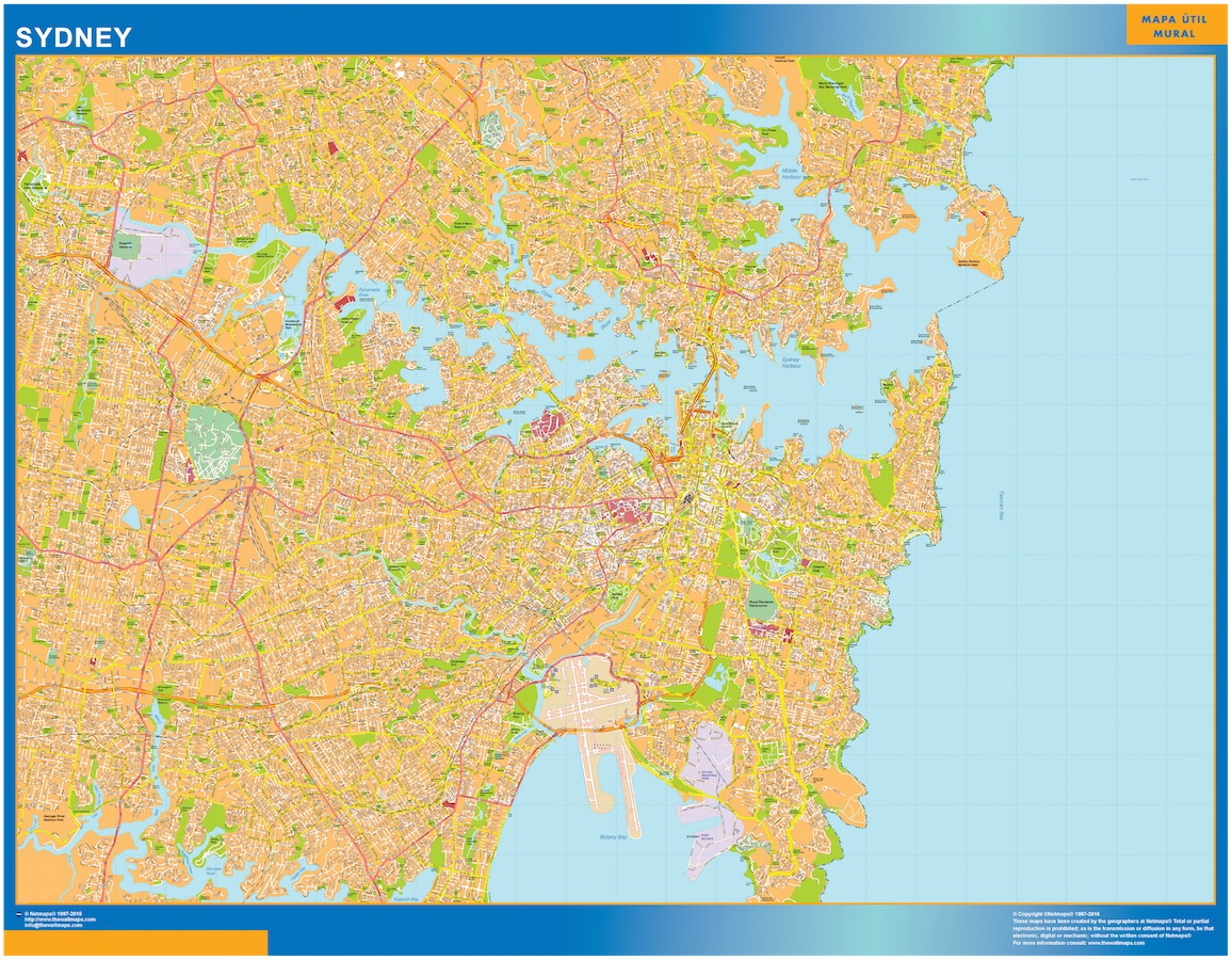 Our sydney map wall maps mapmakers offers poster laminated or sydney map gumiabroncs Images