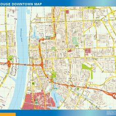 Baton Rouge Downtown map
