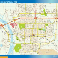 Bismarck Downtown map