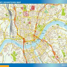 Cincinnati Downtown map