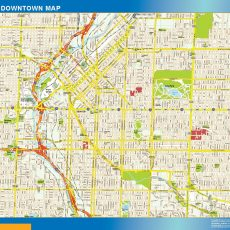 Denver Downtown map