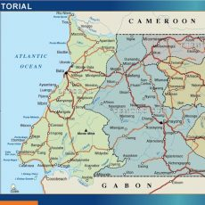 Equatorial Guinea Wall Maps