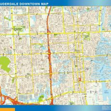 Fort Lauderdale Downtown map