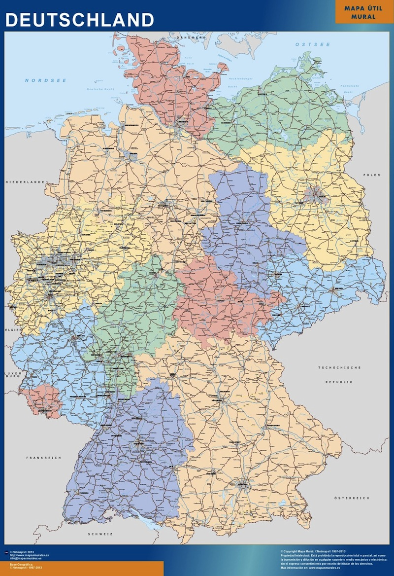Germany Wall Maps