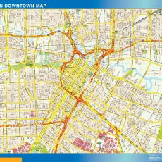Houston Downtown map
