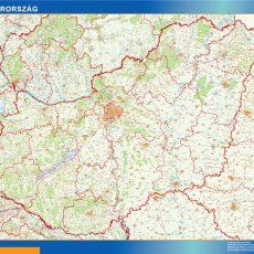 Hungary Wall Maps