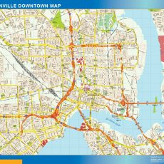 Jacksonville Downtown map