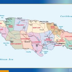 Jamaica Wall Maps
