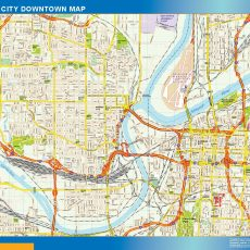Kansas City Downtown map
