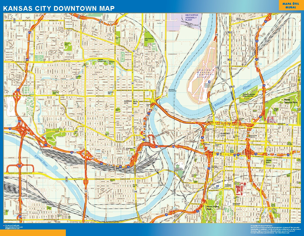 World wall maps store kansas city downtown map more than 10 000 plus logo kansas city downtown map we added your logo and website in our wall map after your order we send you via email 2 3 samples to take your final gumiabroncs Gallery