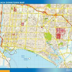 Long Beach Downtown map