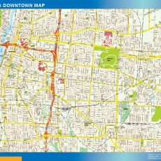 Memphis Downtown map