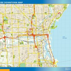 Milwaukee Downtown map