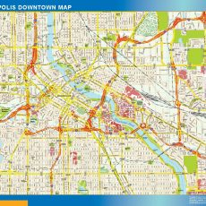 Minneapolis Downtown map