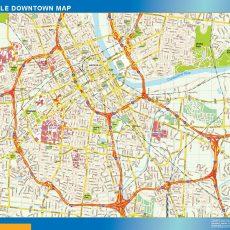Nashville Downtown map