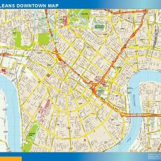 New Orleans Downtown map