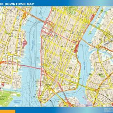 New York Downtown map