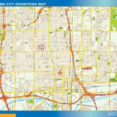 Oklahoma City Downtown map