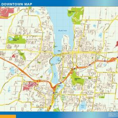 Olympia Downtown map