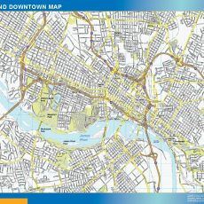 Richmond Downtown map