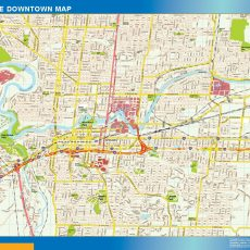 Spokane Downtown map