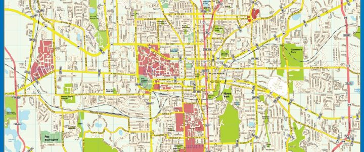 Tallahase Downtown map