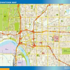 Tulsa Downtown map