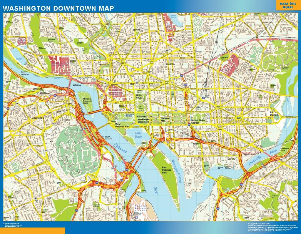 Washington Downtown map