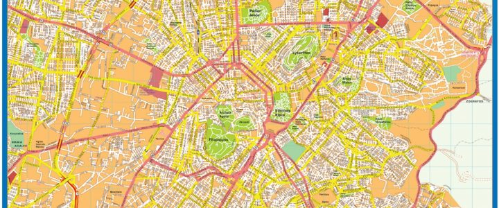 Athens Downtown Map