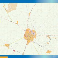 Beja Street Map