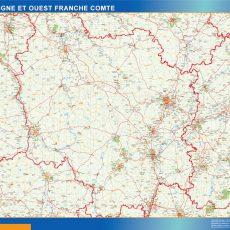 Bourgogne Franche Comte Map