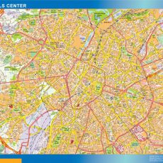 Brussels Downtown Map