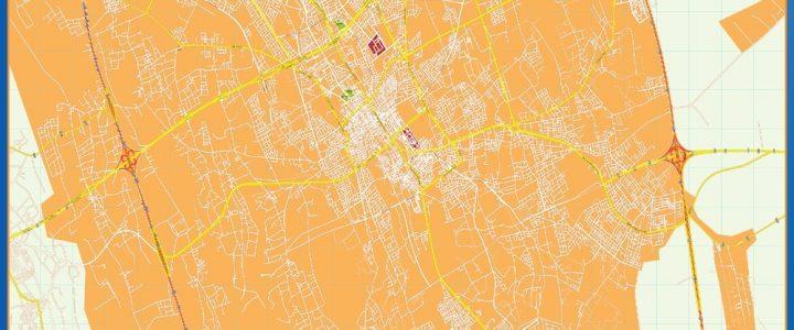 Buraidah Wall Map