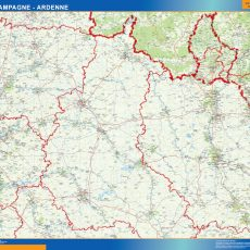 Champagne Ardenne Map