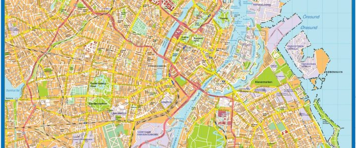 Copenhague Downtown Map